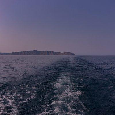 Fahrt quer über den Baikalsee zum Ostufer