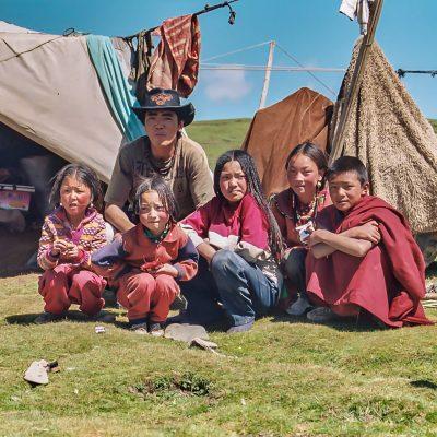 Nomadenfamilie in Amdo