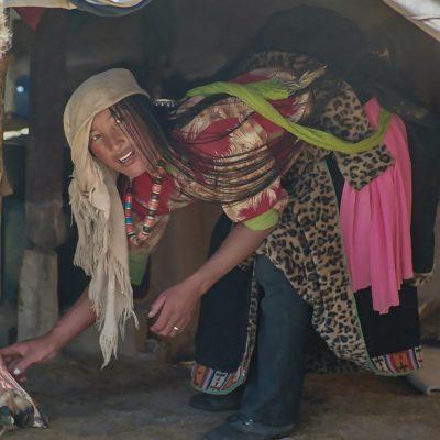 Bei einer Nomadenfamilie in Amdo