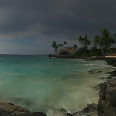 white sand beach in Kona