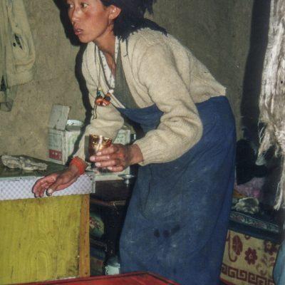 Zuhause bei tibetischen Bauern auf dem Weg nach Reting
