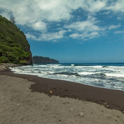 am Strand vom Pololu Valley
