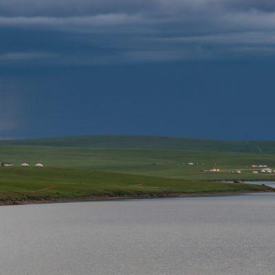 verschiedene Wetter am Ogi Nuur