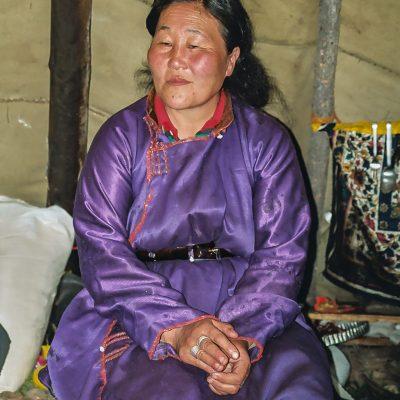 eine Tuva Schamanin