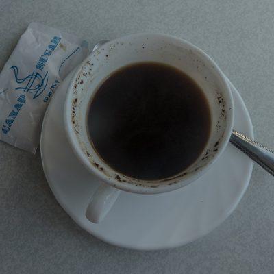 Transibirische Eisenbahn: der Kaffe im Zug ist nicht zu empfehlen