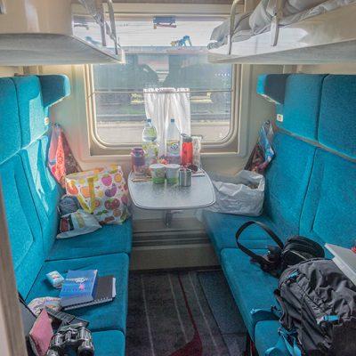 Transibirische Eisenbahn: Unser Abteil