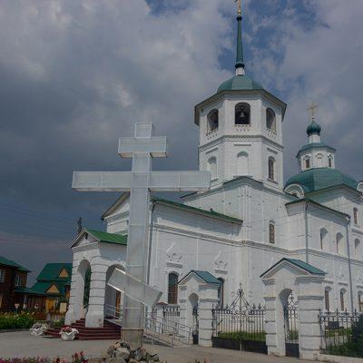Orthodoxes Frauenkloster auf dem Weg nach Ulan Ude